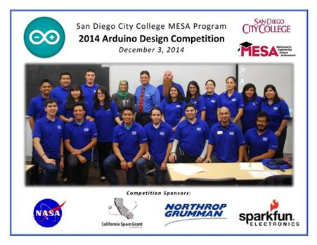 San Diego City College Arduino Competition--Photo Courtesy Rafael Alvarez, MESA Director